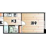 シャルム明石Ⅱ 2階 1K